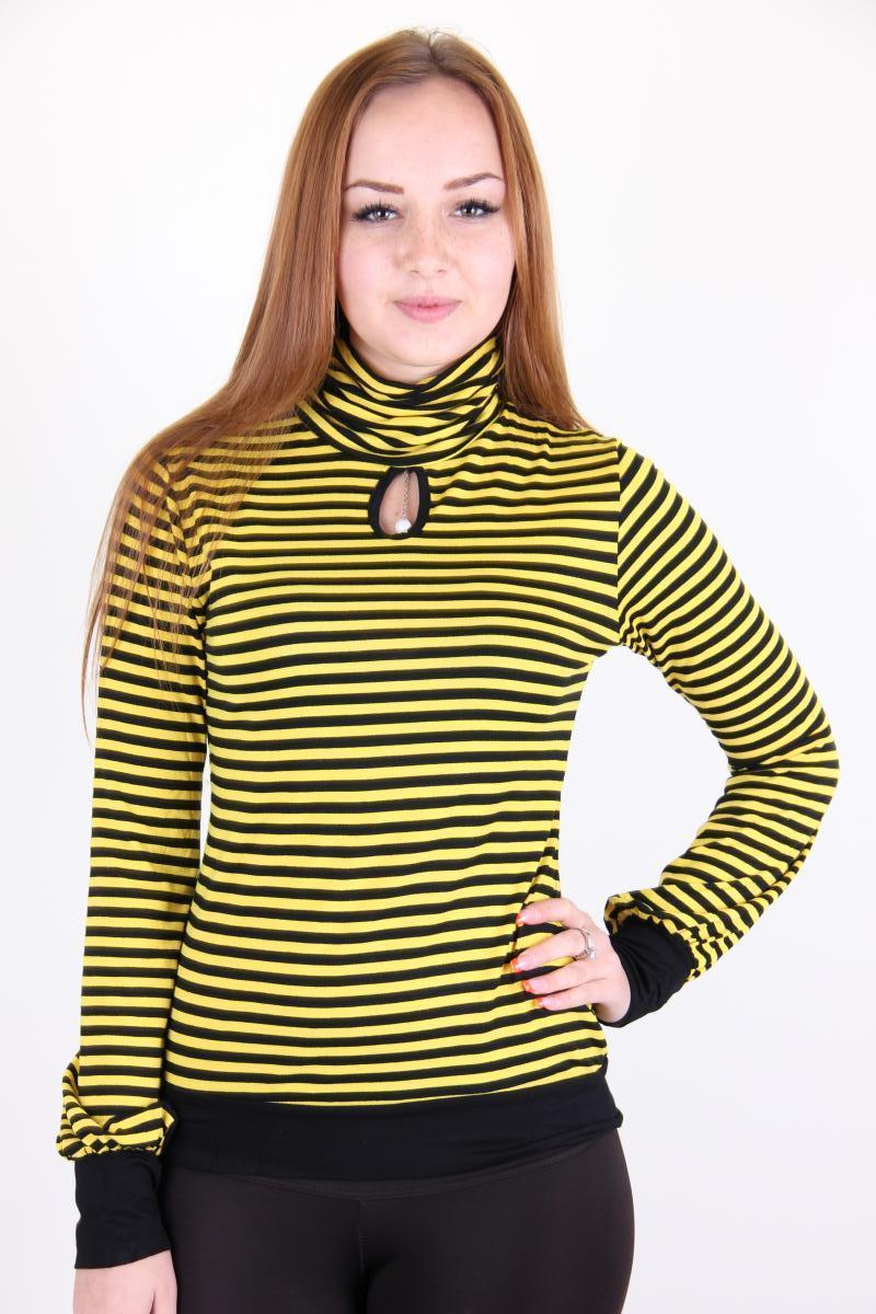 Гольф женский YONG CHUN 3346-1 в полоску (Желтый L)