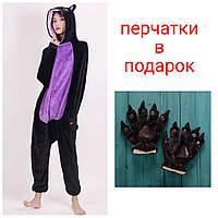 Пижама Кигуруми Черная кошечка спуки  S, М, L, XL