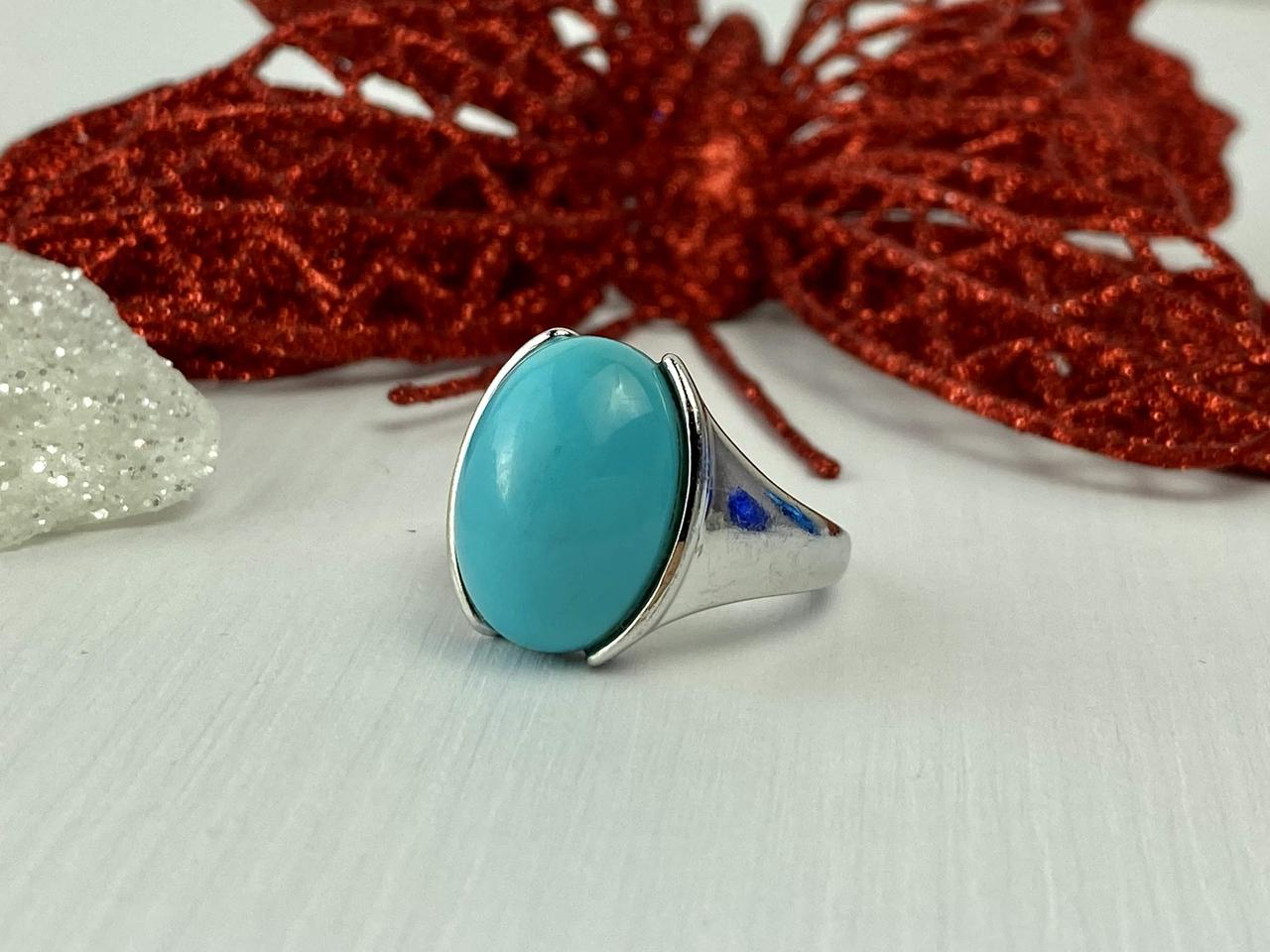 Срібне кільце з Бірюзою блакитний