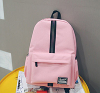 Рюкзак с полосой розовый, рюкзаки женские
