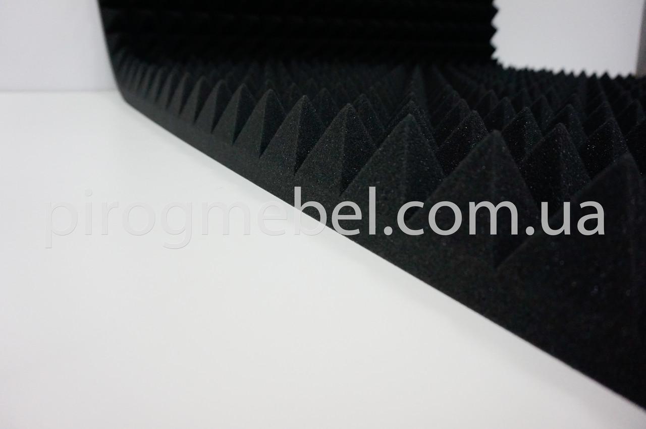 Акустические панели пирамида 70мм; 1 м *1 м