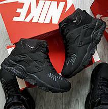 Зимние мужские кроссовки Nike Air Huarache Winter Black/White с мехом (2 ЦВЕТА), фото 3