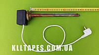 "Тэн  для чугунной батареи 1500W (Италия) на резьбе 1 1/4"" (42мм) с ЦИФРОВЫМ терморегулятором DALAS 3кВт медный"