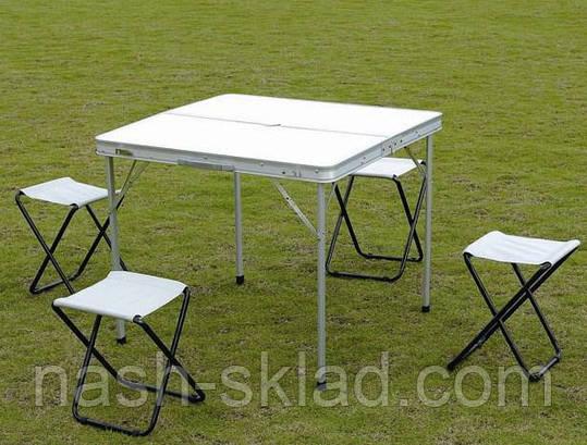 Раскладной стол + 4 стула, туристический набор, фото 2