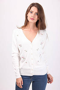 Кофта женская LadiesFashion 1232 с пуговицами (Белый M/L)