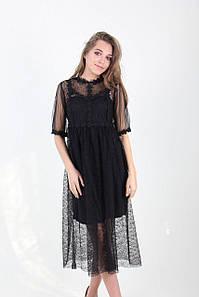 Платье женское LadiesFashion 2338 (Черный L)