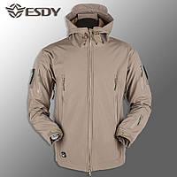 """🔥 Куртка Soft Shell """"ESDY 105"""" - Койот (непромокаемая куртка, тактическая, полицейская)"""