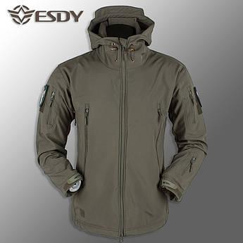 "🔥 Куртка Soft Shell ""ESDY. TAC-105"" - Олива (непромокаемая куртка, куртка нацгвардии)"