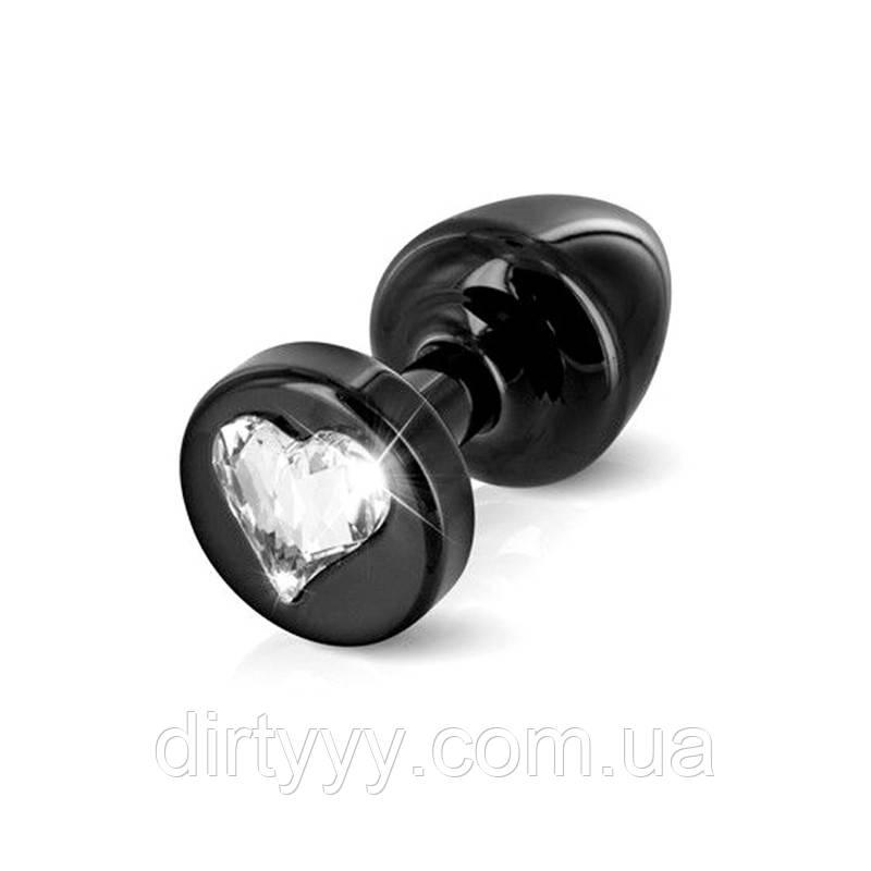 Анальная пробка - Diogol Anni R Heart Black, цвет: черный