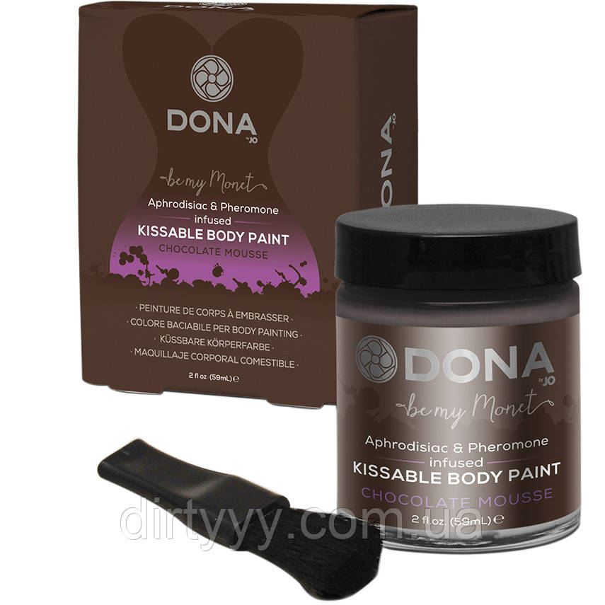 Краска для тела - Dona Kissable Body Paint - CHOCOLATE MOUSSE