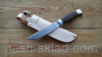 Нож охотничий Финка, кожаный чехол в комплекте, фото 2