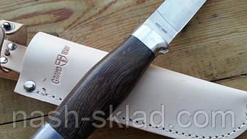 Нож охотничий Финка, кожаный чехол в комплекте, фото 3