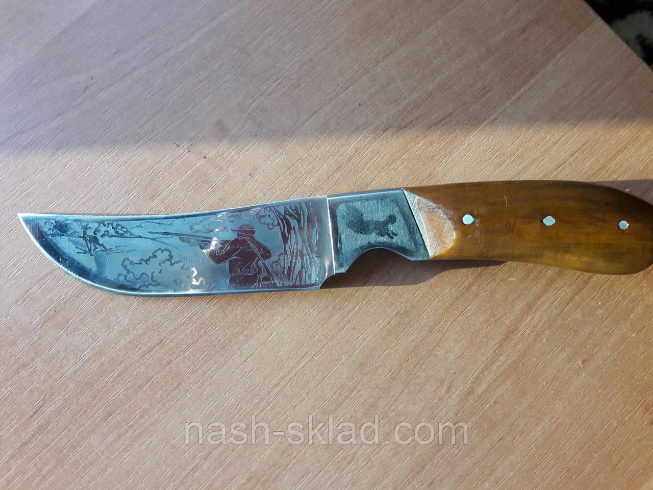 Нож для туризма Охотник за добычей (Ручная работа), кожаный чехол в комплекте