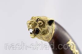 Нож охотничий Тигр сделано в Украине, ручная работа, кожаный чехол и паспорт, фото 3