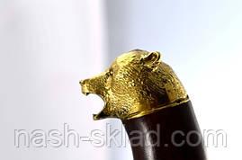 Нож охотничий Медведь сделано в Украине, ручная работа, кожаный чехол и паспорт, фото 3