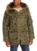 Куртка Alpha Industries Slim Fit N-3B Nightvision 3XL Camo Orange, КОД: 1313216