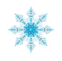 """Вырубка большая """"Снежинка"""" (Поштучно) 24 см (006)"""