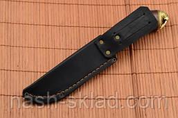 Нож охотничий Морж сделано в Украине, ручная работа, кожаный чехол и паспорт, фото 2