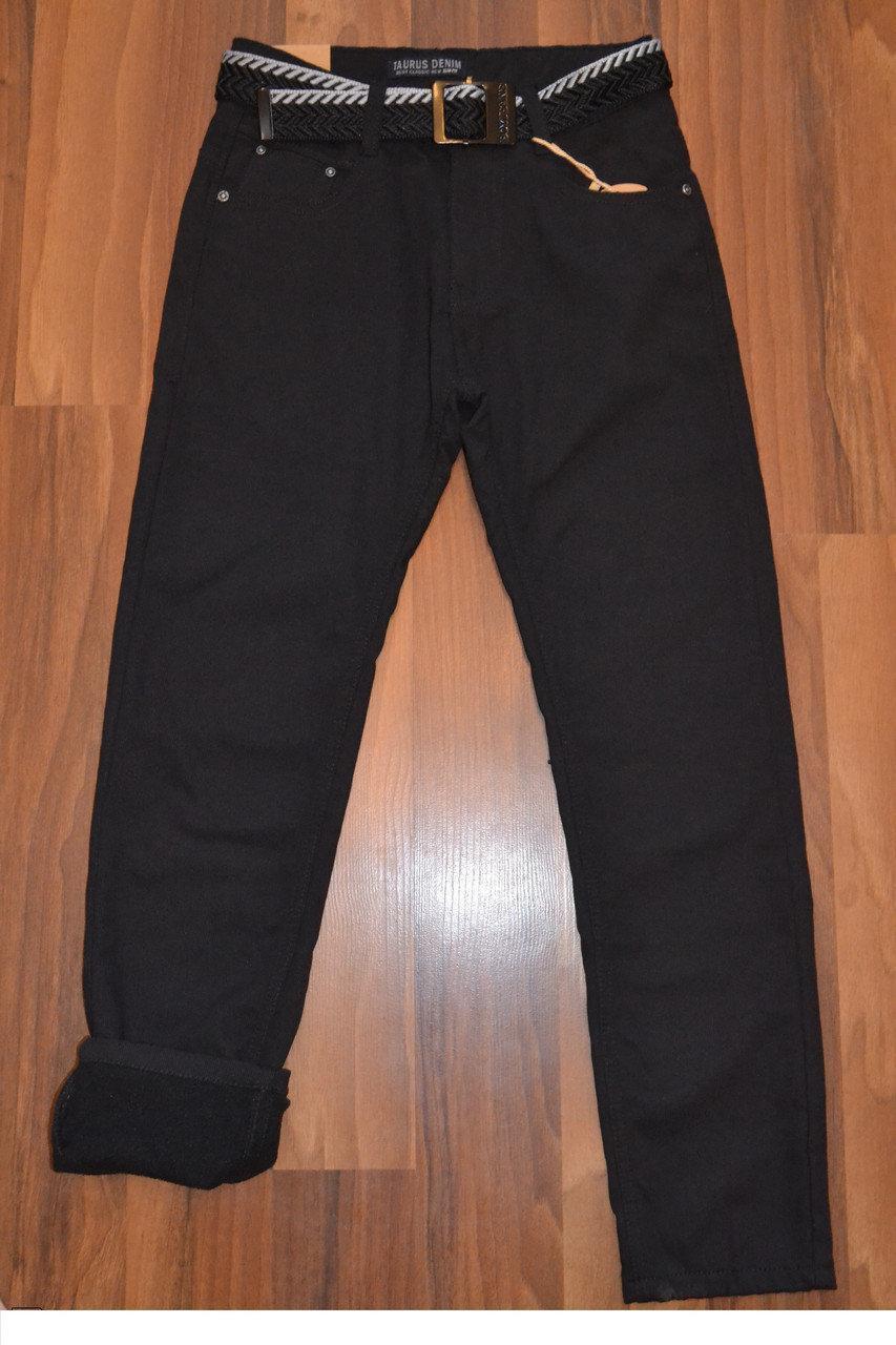 УТЕПЛЁННЫЕ, Котоновые брюки на флисе для мальчиков подростков.ШКОЛА! размеры 146 -170 см.