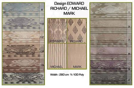 Ткань для штор Edward, Richard, Michael, Mark