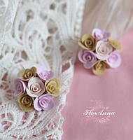 """""""Розовая ваниль"""" авторские серьги ручной работы, фото 1"""