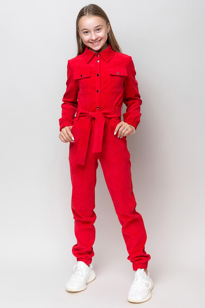 Стильный модный велюровый комбинезон для девочек 134-164 рост