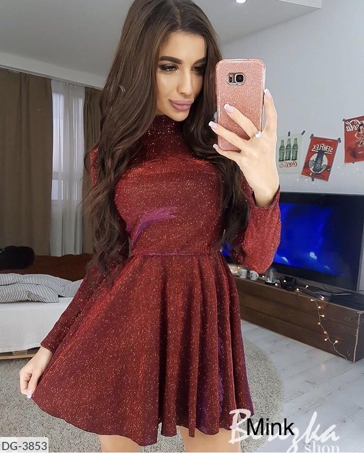 Платье женское стильное вечернее люрекс размеры 42 44 46 новинка 2019 много цветов