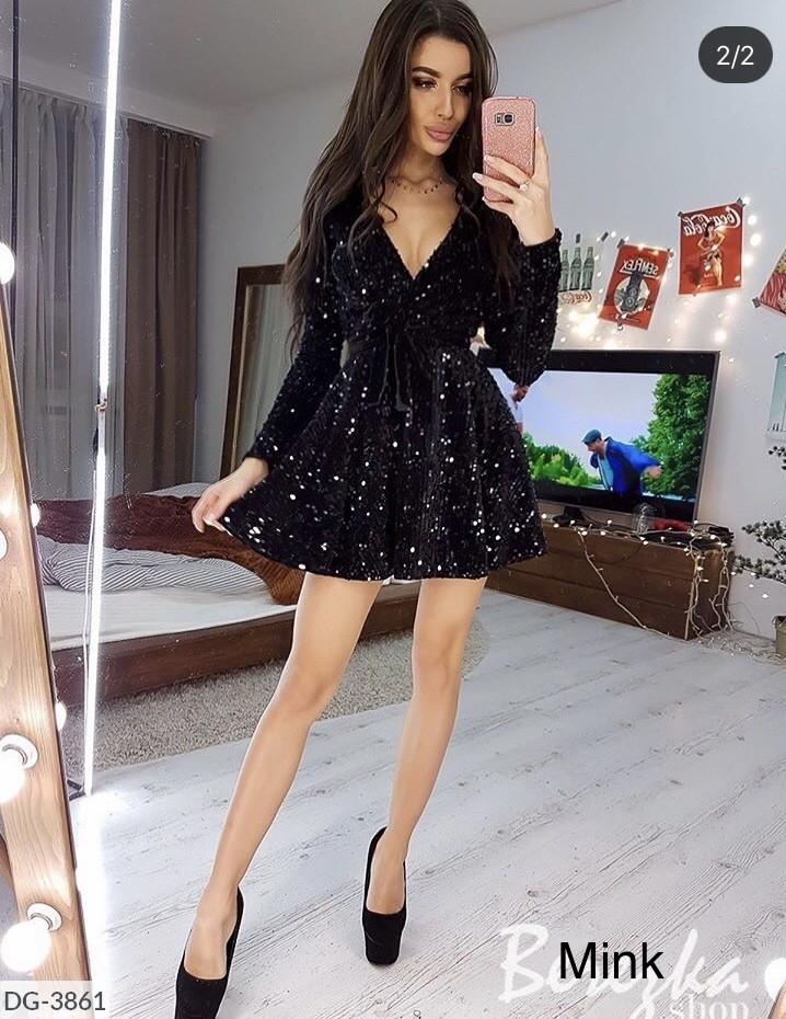 Платье женское стильное вечернее паетка размеры 42 44 46 новинка 2019 много цветов