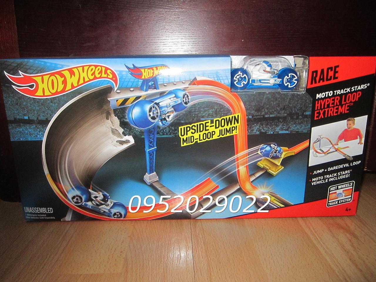 Трек гипер петля мото Хот Вилс Звезды мототрека Hot Wheels Moto Track Stars Hyper Loop Extreme Trackset, фото 1