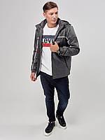 Мужская демисезонная куртка RiccardoТ2 XL Серая 3rc00552, КОД: 1289587