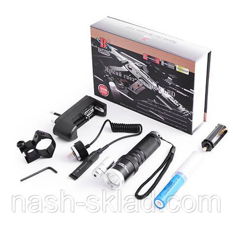 Фонарь подствольный, лазер в комплекте + аккумулятор, фото 2