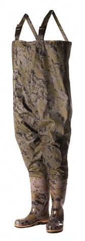 Рыбацкий полукомбинезон  ПСКОВ, оригинал, выполнен из качественного ПВХ, камуфляж , фото 2