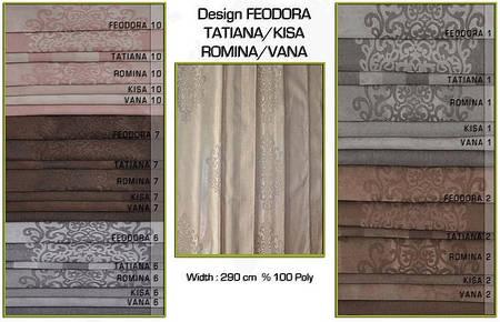 Ткань для штор Feodora, Tatiana, Romina, Kisa, Vana