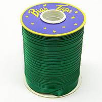 Косая бейка Super 3052 атласная 1.5 см х 100 м Зеленая Bios-3052, КОД: 1314939