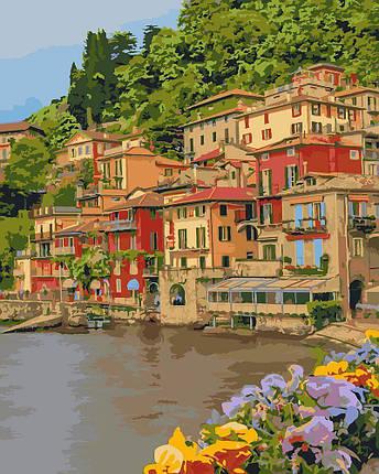 KH2259 Картина-раскраска Набережная Италии, В картонной коробке, фото 2