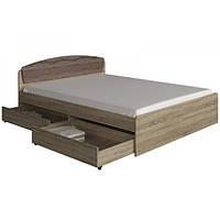 Кровать Эверест Астория с двумя ящиками Дуб Сонома Трюфель 987678, КОД: 1340599