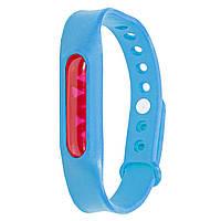 Силиконовый браслет от комаров с капсулой от укусов Lesko Anti Mosquito Band Blue, КОД: 1295363