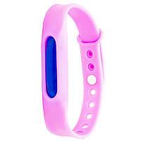 Силиконовый браслет от комаров с капсулой от укусов Lesko Anti Mosquito Band Pink, КОД: 1295361
