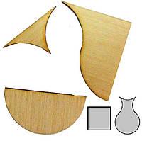 Головоломка деревянная Квадрат и ваза Крутиголовка krut0166, КОД: 119872