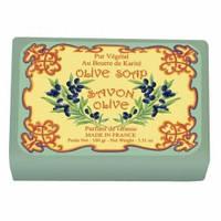 Натуральное мыло в бумажной упаковке Le Blanc Оливковое 100 г 97415, КОД: 1089984