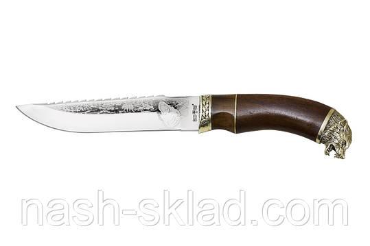 Нож охотничий Волк, РУЧНАЯ РАБОТА, производство Украина + кожаный чехол, фото 2