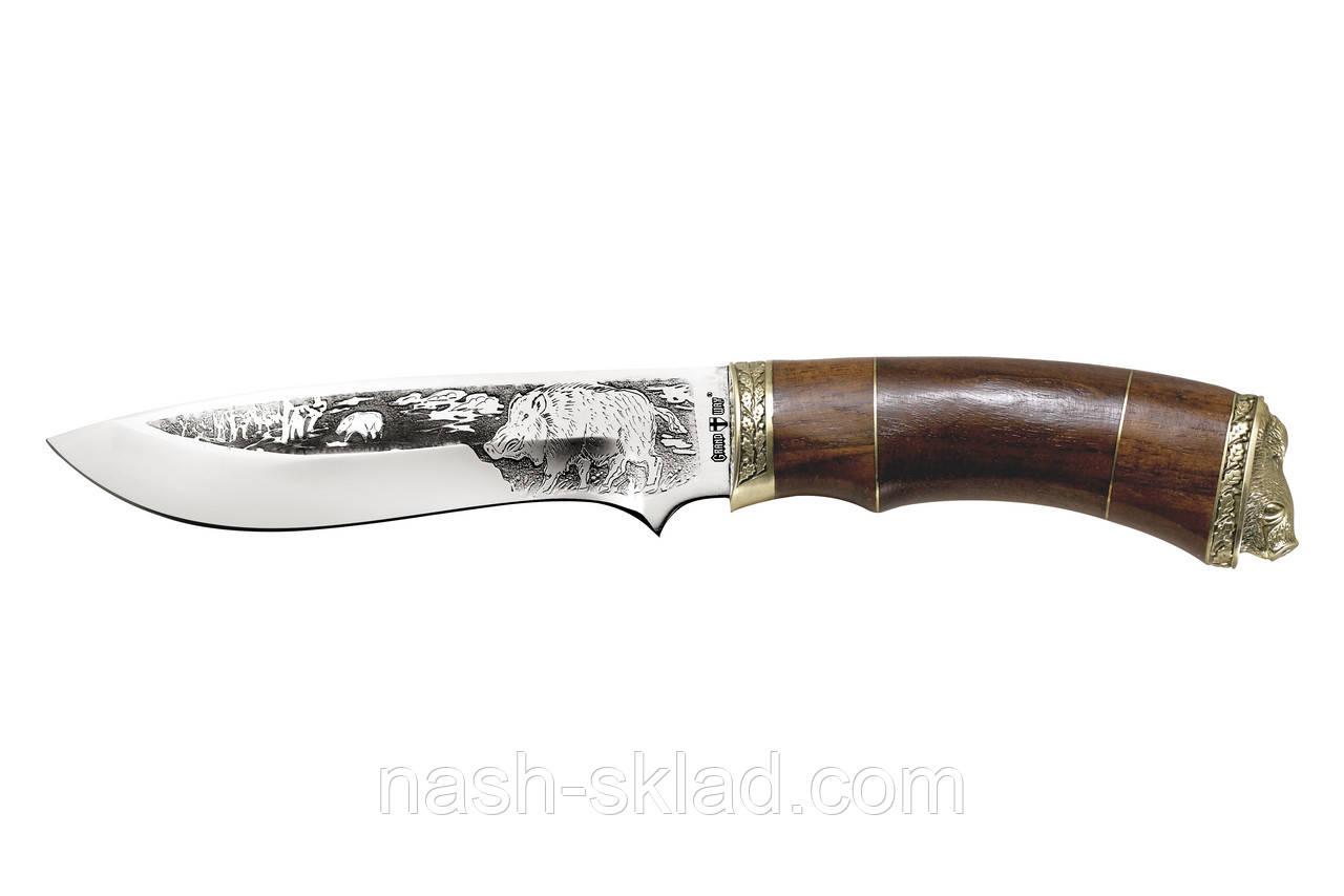 Нож охотничий Кабан, сделано в Украине ручная работа, + кожаный чехол