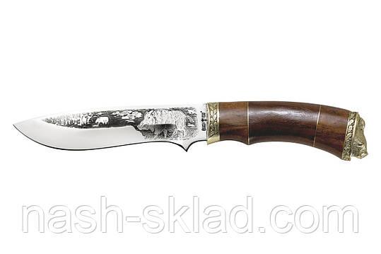 Нож охотничий Кабан, сделано в Украине ручная работа, + кожаный чехол , фото 2