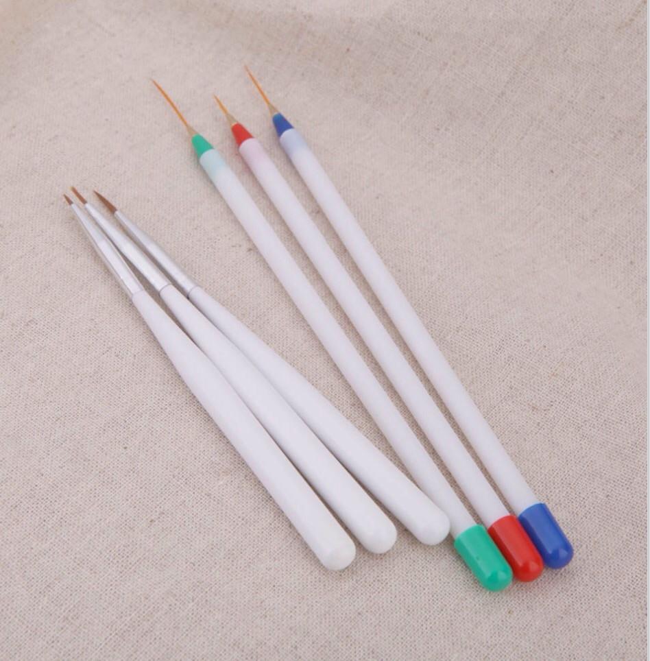 Набор кисточек для дизайна ногтей 6 шт