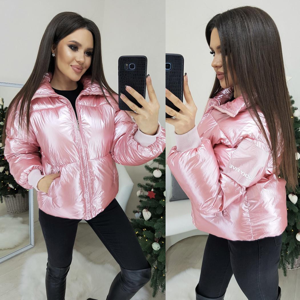 0833-03 Lucky Five куртка женская розовая демисезонная (M-XL. 3 ед.)