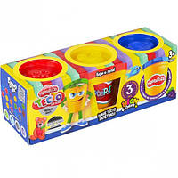 Тесто для лепки Master-Do DankO toys 3 цвета 8105DTR, КОД: 257683