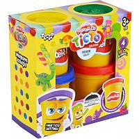 Тесто для лепки Master-Do DankO toys 4 цвета 8106DTR, КОД: 257689