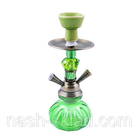 Кальян (2 трубки), экзотический зеленый, фото 2