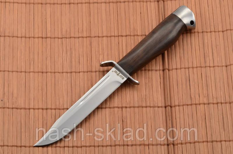 Нож боевой Финка с гербом Украины на рукоятке, Штрафбат + кожаный чехол