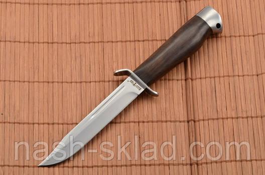 Нож боевой Финка с гербом Украины на рукоятке, Штрафбат + кожаный чехол, фото 2